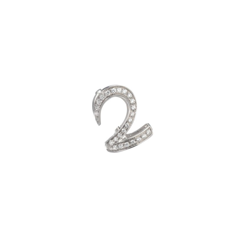 Ivy cuff earring white gold white diamonds